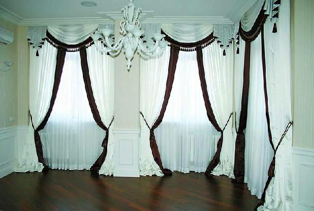 Классические шторы в кабинет