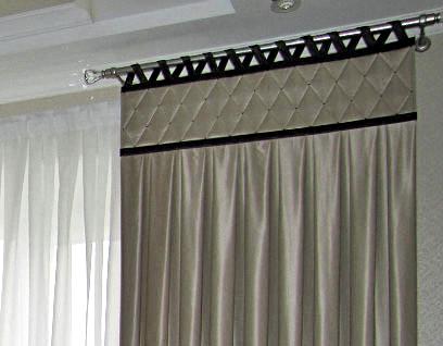 Дизайн и пошив штор, продажа карнизов, жалюзи и аксессуаров со склада в Москве.