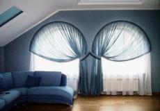 Эксклюзивные шторы на арочные окна