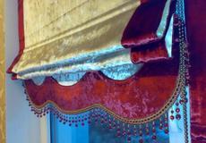 Роскошные римские шторы из бархата